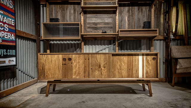 James' Mid Century Media Console by Trevor Neal - Media Consoles