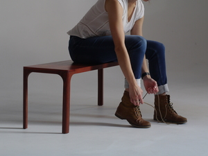 Lace up Bench  by MWP  Furniture Design - Bench, Hallway