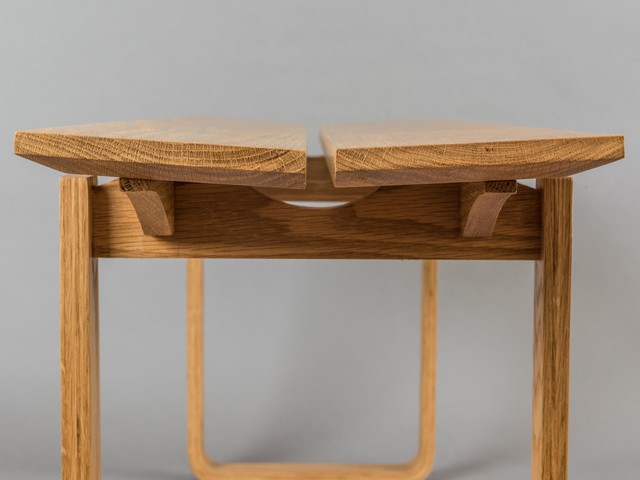 French Oak Bench Seat by Lou Harriss - Louharriss, Bench Seat, French Oak