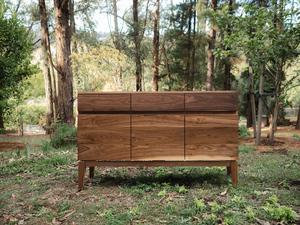 Luna II Sideboard by Lloyd Anderson - Walnut, Sideboard, Credenza, Storage, Entrance, Dining, Mid Century, Scandinavian, Bespoke, Minimalist