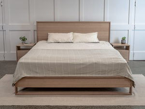 Tasmanian Oak Bedhead and Side Tables by Pedullá Studio - Bedroom Furniture, Tasmanian Oak, Bed, Side Tables