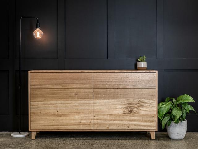 Tasmanian Oak Dresser by Pedullá Studio - Bedroom Furniture, Dresser Drawers, Custom Furniture