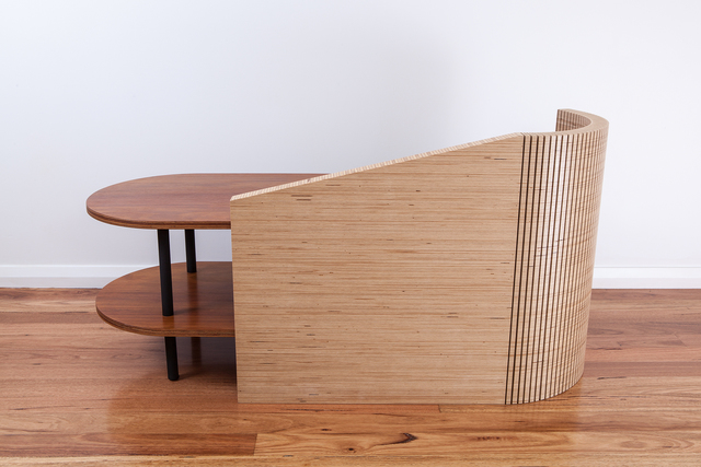 ZT Series Chaise Bench by Ceri Frahm - Ply, Plywood, Plywood Furniture, Bench, Seating, Bench Seating, Bench Seat, Entryway Furniture, Entry Bench