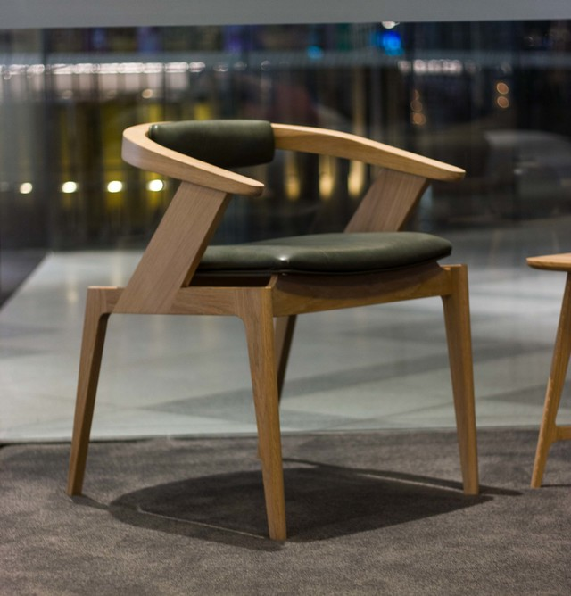 Wodalla Formal Chair by Lee Sinclair Design Co - Kangaroo Leather, Leather, Timber, Chair, Wood, Contemporary, Seating