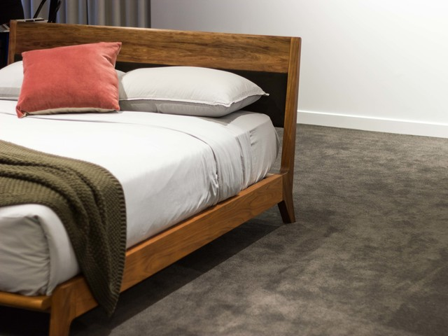 Wodalla Bed  by Lee Sinclair Design Co - Bed, Bedhead, Bedroom, Timber, Wood, Uphostered, Textiles