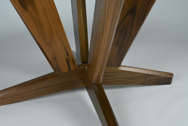 INTERSECTION ROUND DINING TABLE by Kevin Brown - Custom Made Furniture, Fine Furniture