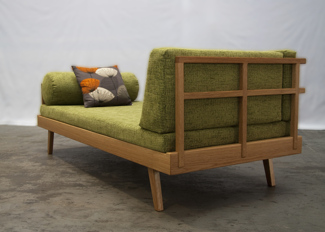 Day Bed by Andrew Gibbs - Daybed, Lounge, Couch, American Oak, Upholstery