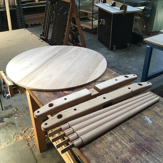 Round table by Andrew Gibbs - Dining Tables, Kitchen Tables, Recycled Timber, Round Tables, Mid Century