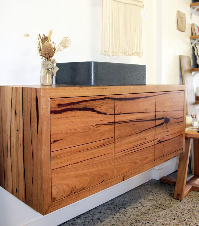 Bathroom Vanity by Hold Fast Designs - Bathroom Vanity, Recycled Timber, Bespoke Furniture, Designer Bathroom