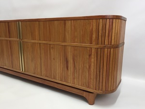 Tambour Door Cabinet by Matthew William  Parrish - Tambour Door, Mid Century, Cabinet