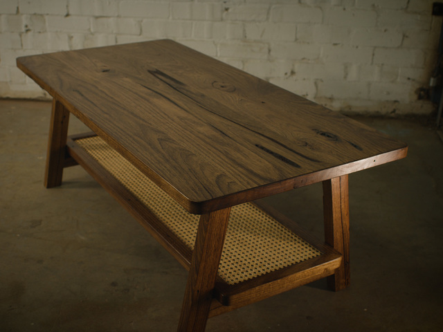 Nihi Coffee Table by James May - Coffee Table, Indonesian, Rattan, Recycled, Walnut, Table, Recycled Furniture