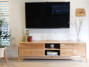 Joycey by Fort Kingsley - Entertainment Unit, Sideboard, Credenza, Wood, Furniture, Tv, Cabinet