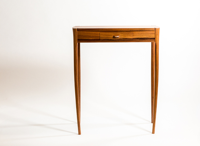 Bambi hall table by Steven Giannuzzi  - Hall Table, String Inlay, Blackwood, Handcut Dovetails, Handshaped