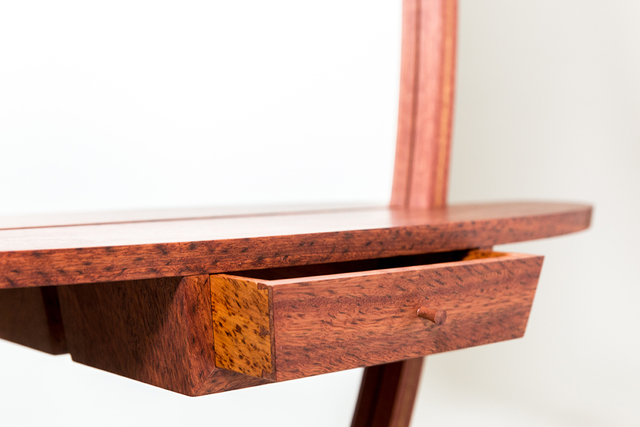 'Who's the fairest' hall mirror by Steven Giannuzzi  - Mirror, Handcut Dovetails, Bent Laminations, Jarrah
