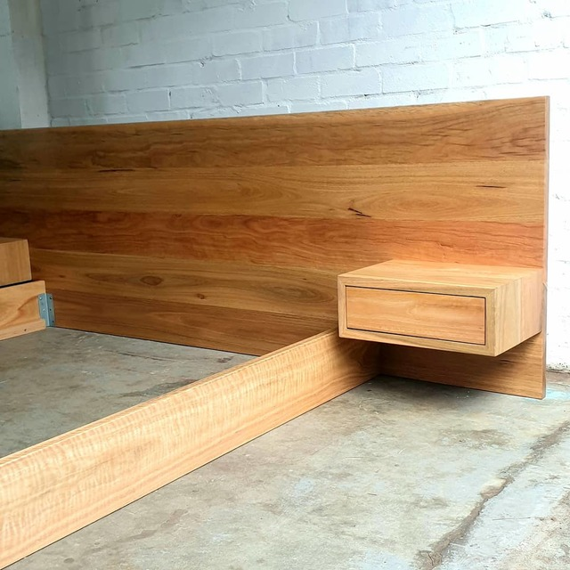 The Lowdown by James May - Timber Bed, Bedframe, Beds, Bedroom, Bedhead, Spotted Gum, Queen Bed, Bed