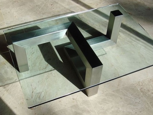 Stainless steel Coffee Table by Tibo Tournebize - Custom Design, Unique Design, Stainless Steel