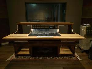 Bespoke sound engineering mixing desk by Tim Denshire-Key - Mixing Desk, Recording Studio, Console Desk, Music Studio, Studio Furniture