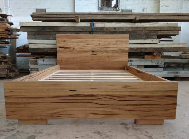 Hardwood bed  by Tim Denshire-Key - Bed, Recycled Timber, Hardwood, Bed Frame, Melbourne, Bedroom
