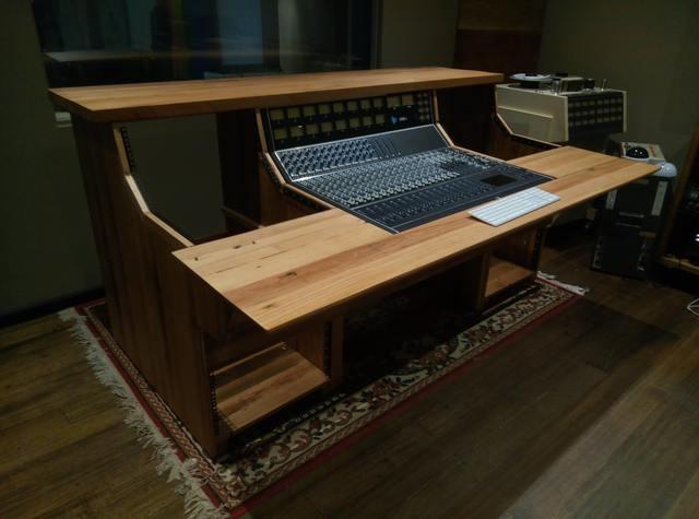 Bespoke sound engineering mixing desk by Tim Denshire-Key - Mixing Desk, Recording Studio, Console Desk, Music Studio, Studio Furniture
