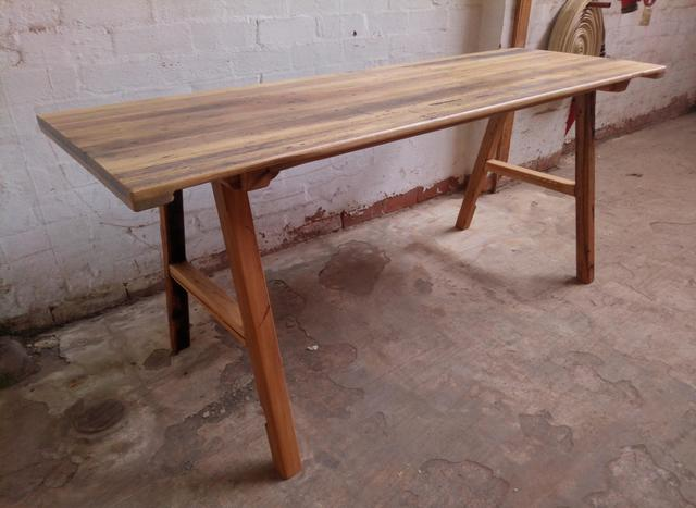 Recycled hardwood dining table by Tim Denshire-Key - Dining Table, Brunswick, Hardwood, Recycled Timber, Rustic