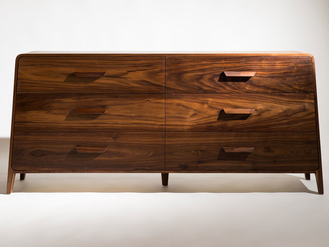 """Becoming"" by Remy Tramoy - Mid Century, Mid Century Modern, Dresser, Drawers, Solid Wood, Handmade, Geometric, Simplicity"