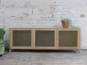 Drinks Cabinet by The Brae Furniture Workshop - American Oak, Brass Mesh, Drinks Cabinet