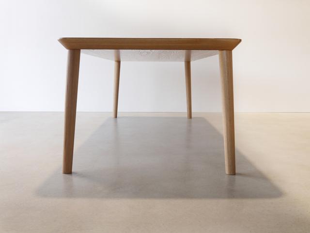 Mercator Way Dining Table by Nathan Day Design - Torsion Box, Oak, Dining Table, Walnut, Black, Minimal, Leg Room
