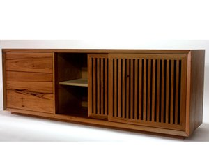 TV Stand  by James May - TV, Tv Cabinet, Entertainment, Storage, Sideboard, Tv Stand, Recycled Cabinet, Sliding Doors, Recycled TV Stand