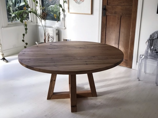 Recycled messmate dining table  by Zac Pearton - Table, Dining Table, Round Table, Recycled Timber, Messmate