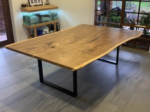 Elm Dining Table  by Zac Pearton - Table, Elm, Dining Table, Slab Table, Natural Edge