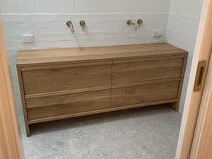 Oak vanity by Zac Pearton - Bathroom, Vanity, Timber Vanity, Oak Vanity, American Oak, Ensuite