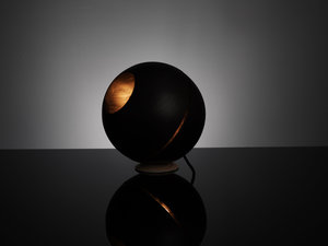 Saturn Table Lamp by ILANEL - Timber, Designer, Lamp, Table Lamp, Handmade, Wood, Grain