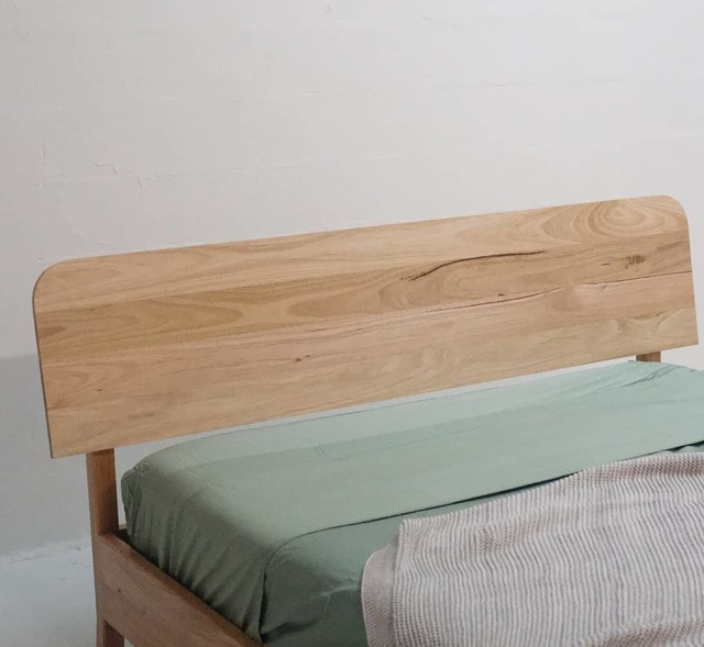 Fairlight Bed by James May - Bed, Bedhead, Bedroom, Queen Bed, Bedframe, Sydney Furniture, Recycled, Blackbutt