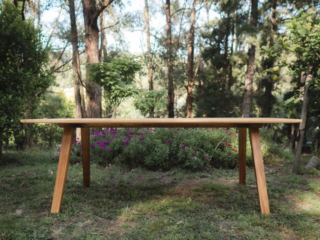 Vaeda Dining by Lloyd Anderson - Light Timber, Dark Timber, Blackwood, Oak, Walnut, Dining Table, Scandinavian, Minimalist, Mid Century, Modern