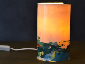 Porcelain lamp by Sarah Tracton - Porcelain Lamp, Handmade Light, Melbourne Made, Sarah Tracton, Bespoke Lighting, Interior Design