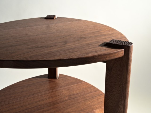 Elodie Side Table by Lloyd Anderson - Walnut, Maple, Side Table, Occasional Table, Bedside, Carving, Bespoke, Nightstand
