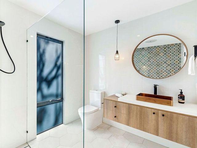 Custom Vanity by Ryan Kurz - Made By Design, Vanity, Custom, Copper, Solid Surface, Timber Grain