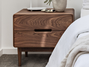 Alira Bedside by Tim Noone - Bedside, Tallboy, Walnut, Oak, Bedroom, Storage, Custom, Table