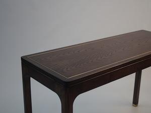 Oak Writing Desk by Matthew William  Parrish - Desk, Oak, Writing Desk, Stained, Brass