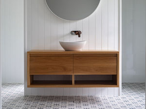 Smith Bathroom Vanity by Lambert  Ibanes - Bathroom, Vanity, American Oak