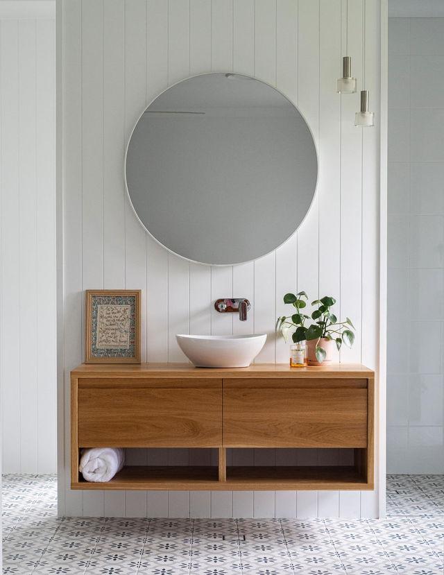 Smith Bathroom Vanity by Lambert  Ibanes - Bathroom, Vanity, American Oak