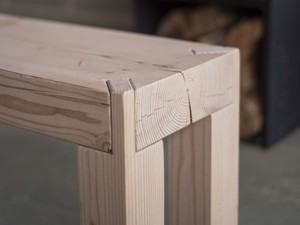 Meditation Bench by Douglas Fir Design - Bench Seat, Bench, Modern, Rustic, Minimalist, Timber Bench