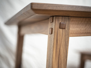 Wordsmith Table and Bench Seat by Douglas Fir Design - Spotted Gum, Dining Table, Farmhouse, Modern, Bench Seat, Joinery