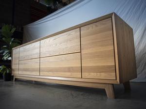 Ruth Credenza by Douglas Fir Design - Drawers, Dresser, Buffet, Credenza, American Oak, Laundry