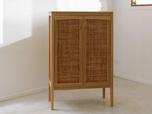 The LuLu Cabinet by Lambert  Ibanes - Blackbutt, Rattan, Bookshelf, Cabinet