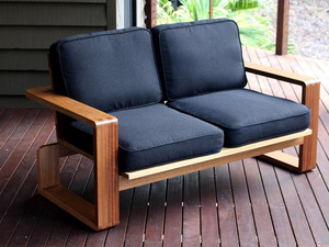 Draper Outdoor Lounge by David Cummins - Outdoor Lounge, Spotted Gum, Sofa, Armchair