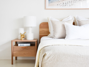 Nordic Timber bedside Table  by RAW Sunshine Coast  - Bedside Table, Timber Bedside, Storage, Drawers