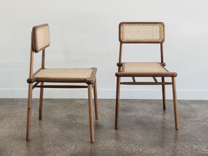 Ruka Dining Chair by Jeremy Lee - Chair, Dining Chair, Walnut, Rattan, Dining Table, Jdlee