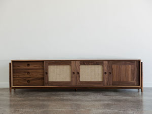 Ruka Sideboard by Jeremy Lee - Sideboard, Cupboard, Cabinet, Walnut, Jdlee, Storage, Rattan