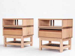 Promontory Bedside Tables by GLENCROSS FURNITURE - Promontory, Bedside, Bedside Tables, Bedroom, Side Tables, Tables, Storage, Tasmanian Oak, Sideboard, Cabinet
